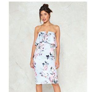 Nasty Gal Spring Affair Floral Midi Dress